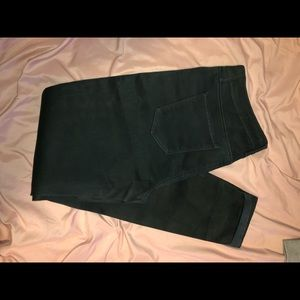 Super skinny green pants